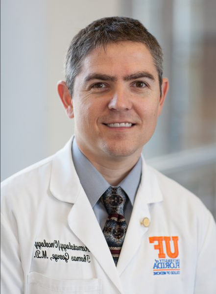 Dr. Thom George,Program director, UF Health GI Oncology Program, COM, Dept. Medicine, Division Hematology/Oncology
